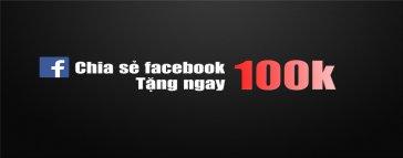 Like và Rate Fanpage Nhận ngay 100K